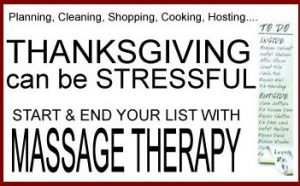 Start and end your holiday list with massage!