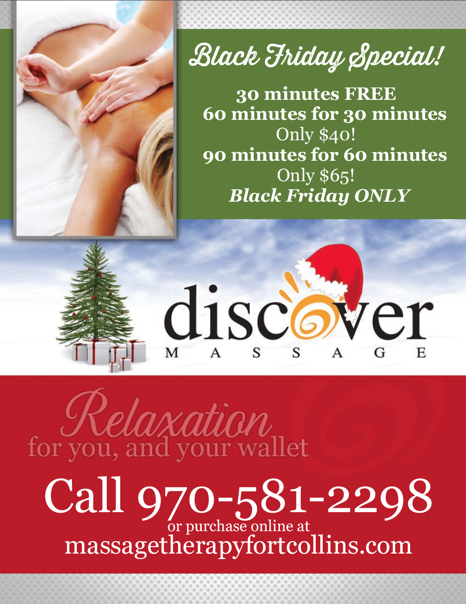 On-Line Gift Certificates and Black Friday Massage Sale