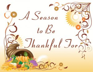 A Season to be Thankful For.