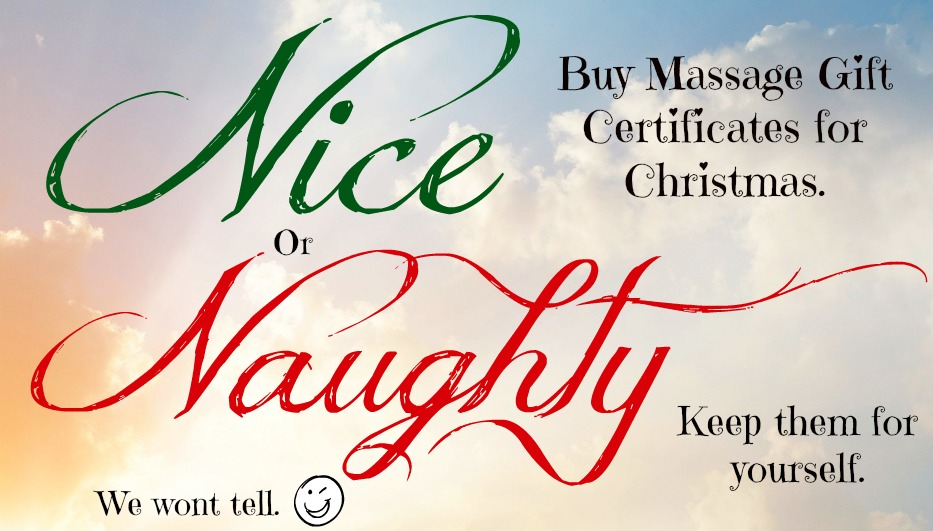 There's the naughty list…the nice list and then there's the massage list!!