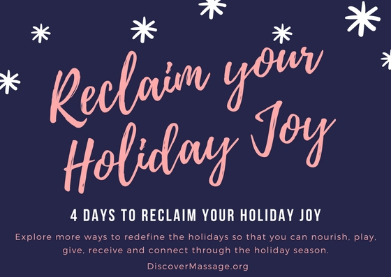 4 Days to Reclaim your Holiday Joy